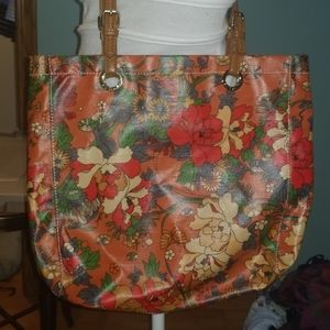 Sakroots  Large tote canvas coated floral boho